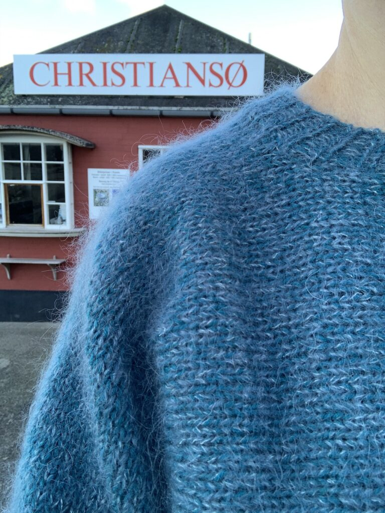 Melsted sweater halskant