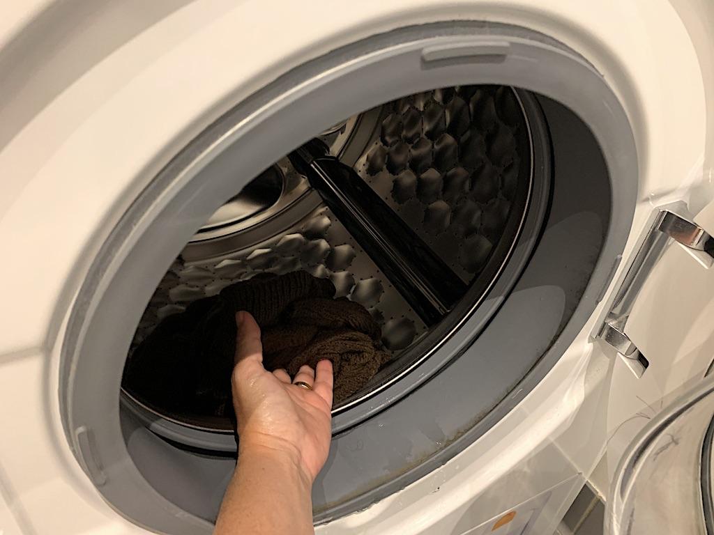 Uldvask - centrifugering i vaskemaskine