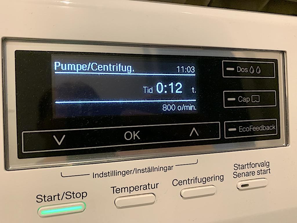 Uldvask centrifugering