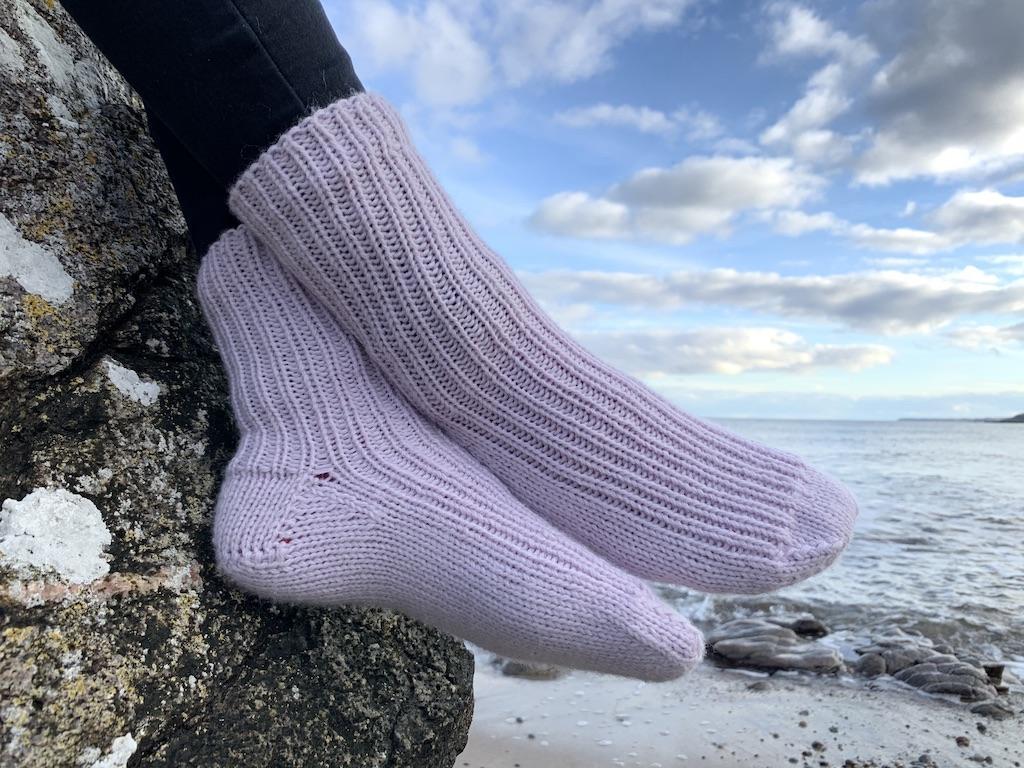 Hjemmestrikkede sokker