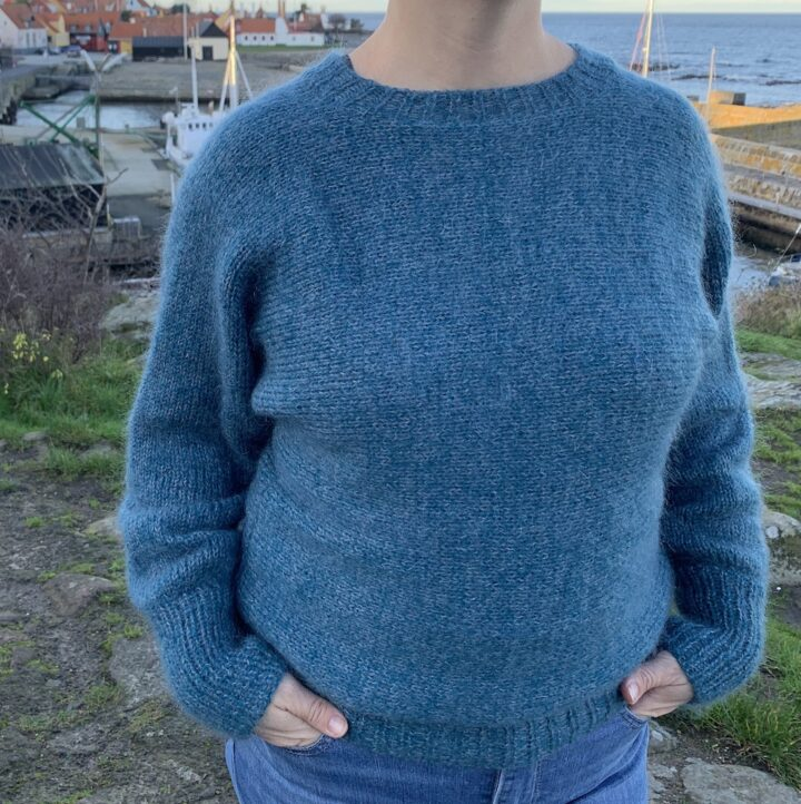 Melsted sweater forfra