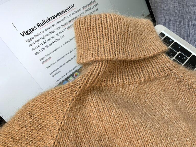 Viggas Rullekravesweater - opskrift in the making