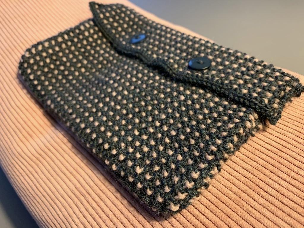 Lille taske i vævestrik - få opskrift gratis her